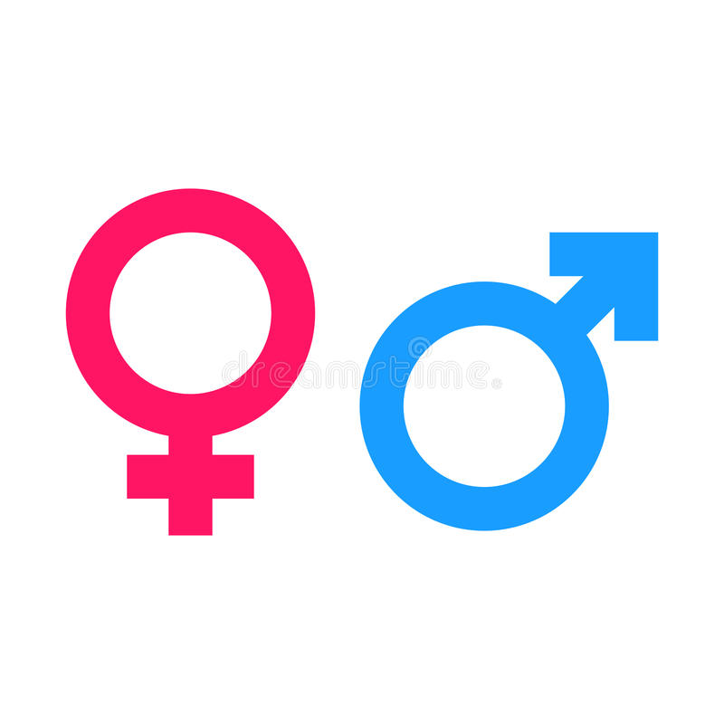 Icona di vettore del segno uguale di genere illustrazione di stock