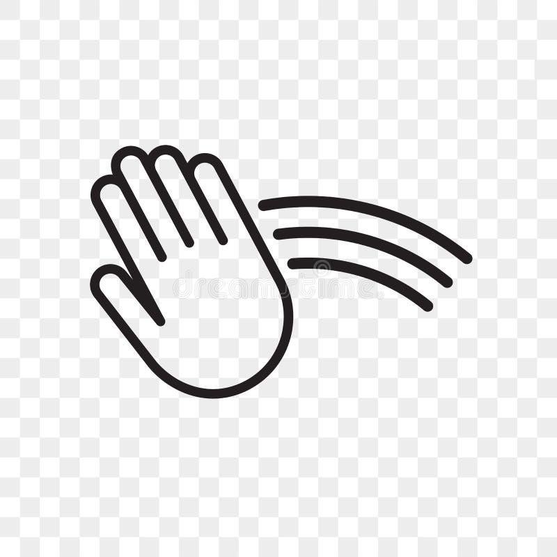 Icona di vettore del sensore della mano Asciugamano, erogatore del sapone, asciugamani automatici e segno di tocco del sensore de illustrazione di stock