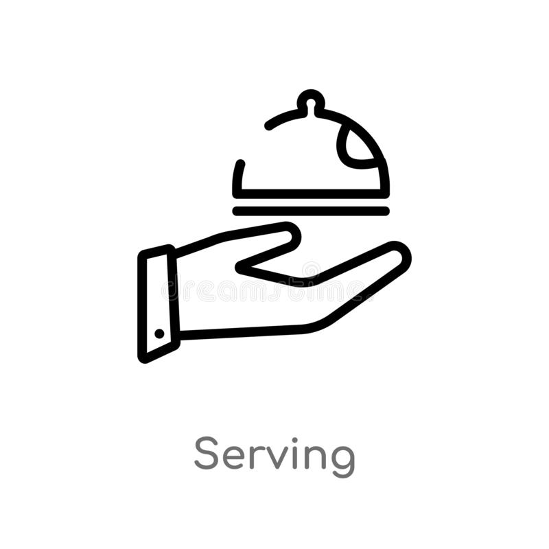 icona di vettore del servizio del profilo linea semplice nera isolata illustrazione dell'elemento dal concetto di lusso servizio  illustrazione vettoriale