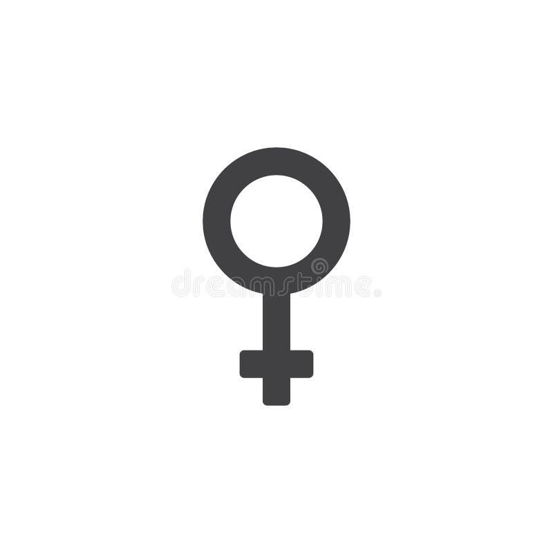 Icona di vettore del sesso di genere della donna illustrazione di stock
