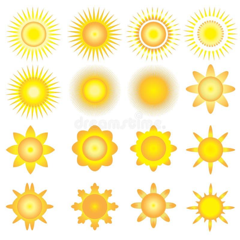 Icona di vettore del sole illustrazione di stock