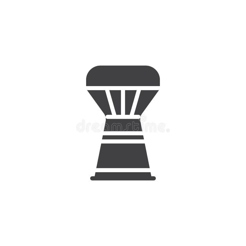 Icona di vettore del tamburo di Djembe royalty illustrazione gratis
