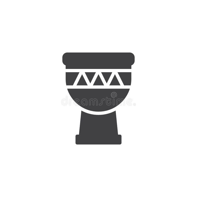 Icona di vettore del tamburo di Djembe illustrazione vettoriale