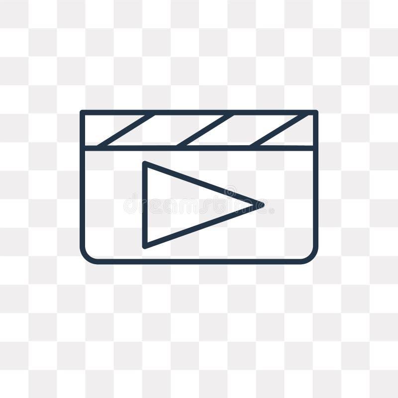 Icona di vettore del tasto di riproduzione di ciac isolata sul BAC trasparente royalty illustrazione gratis