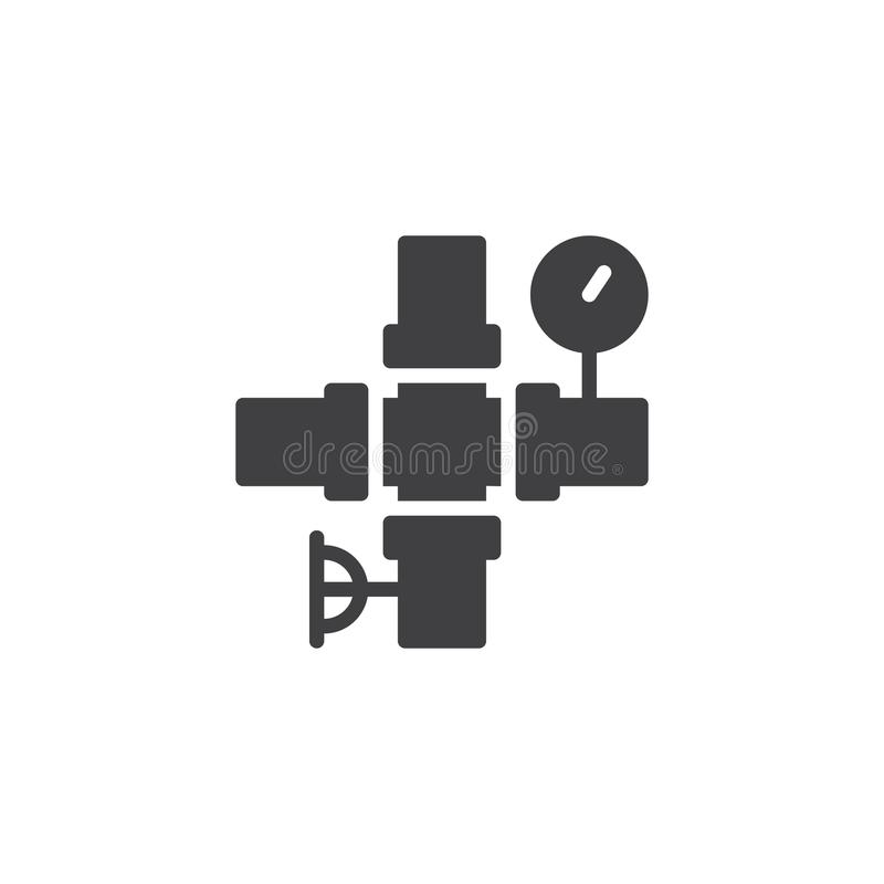Icona di vettore del tubo di olio e del manometro royalty illustrazione gratis