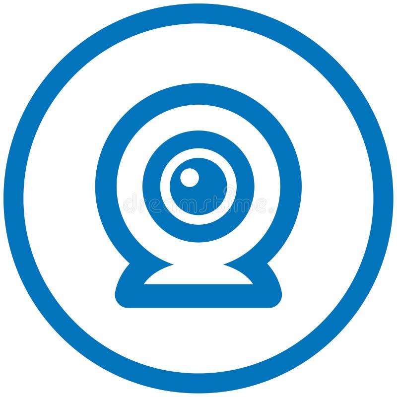 Icona di vettore del webcam illustrazione di stock