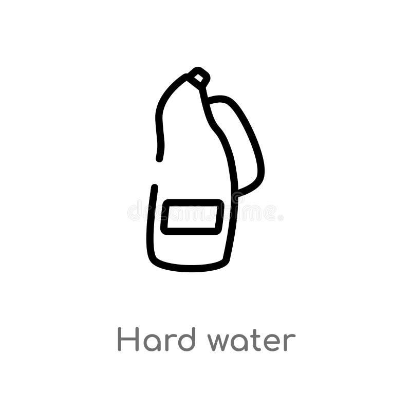 icona di vettore dell'acqua dura del profilo linea semplice nera isolata illustrazione dell'elemento dal concetto di pulizia colp royalty illustrazione gratis