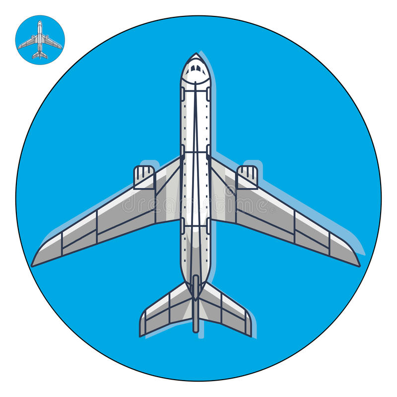 Icona di vettore dell'aeroplano illustrazione di stock