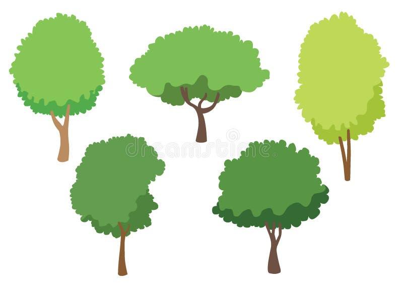 Icona di vettore dell'albero isolata su fondo bianco, concetto di logo dell'albero illustrazione di stock