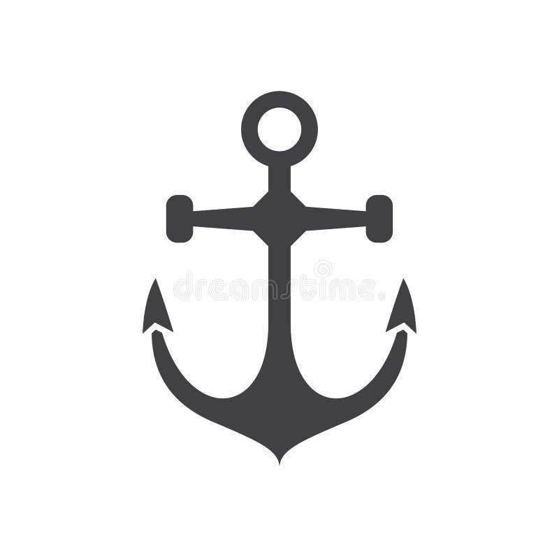 Icona di vettore dell'ancora galleggiante royalty illustrazione gratis