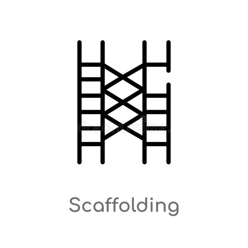 icona di vettore dell'armatura del profilo linea semplice nera isolata illustrazione dell'elemento dal concetto degli strumenti e illustrazione di stock