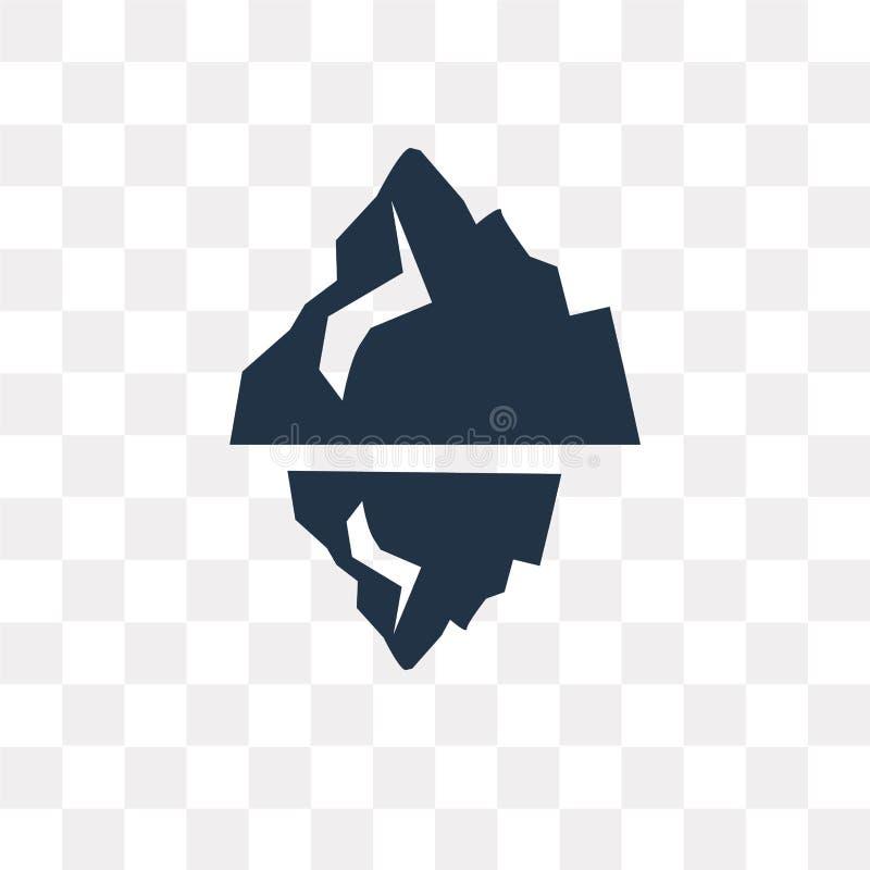 Icona di vettore dell'iceberg isolata su fondo trasparente, iceberg illustrazione vettoriale