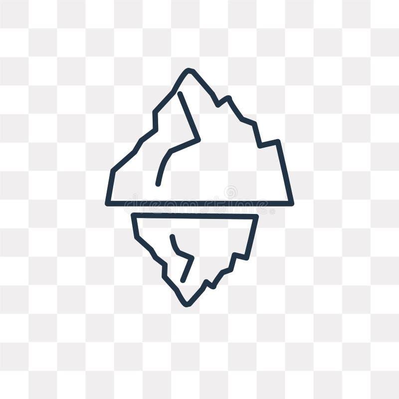 Icona di vettore dell'iceberg isolata su fondo trasparente, lineare io royalty illustrazione gratis