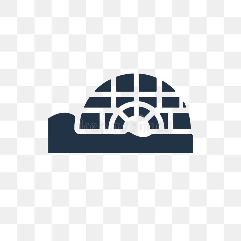 Icona di vettore dell'iglù isolata su fondo trasparente, tra dell'iglù illustrazione vettoriale