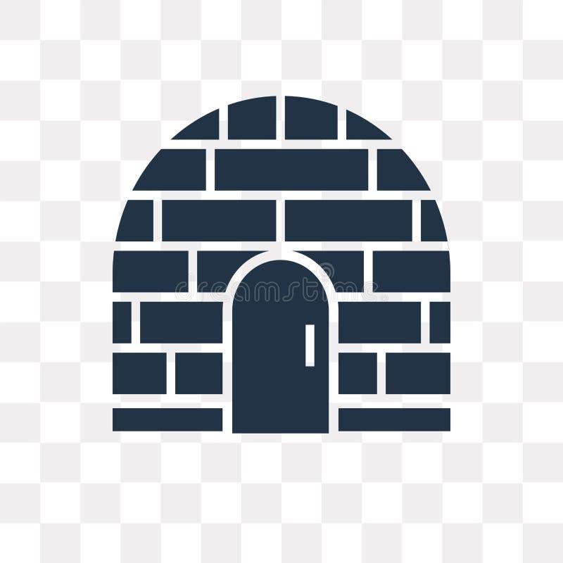 Icona di vettore dell'iglù isolata su fondo trasparente, tra dell'iglù illustrazione di stock
