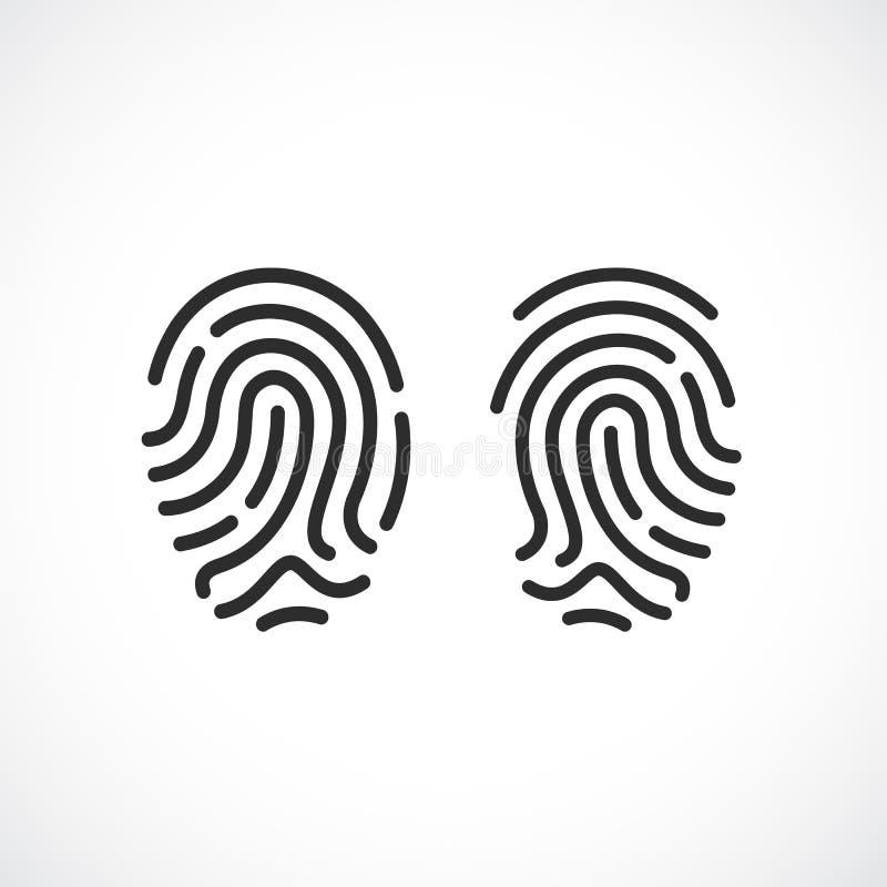 Icona di vettore dell'impronta digitale illustrazione vettoriale