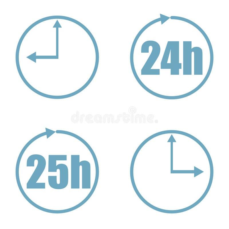 Icona di vettore dell'insieme di tempo isolata su fondo bianco illustrazione vettoriale