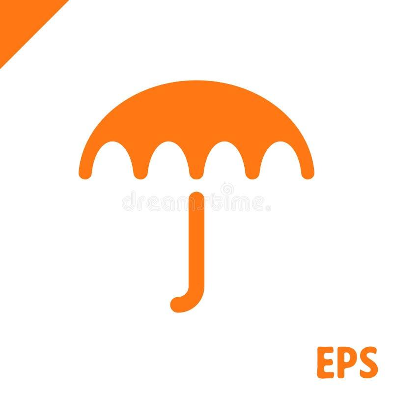 Icona di vettore dell'ombrello Simbolo di protezione di pioggia Stile piano di progettazione illustrazione vettoriale