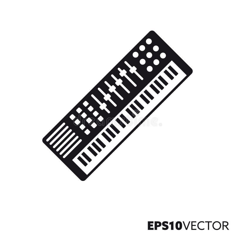 Icona di vettore dell'organo del sintetizzatore illustrazione di stock