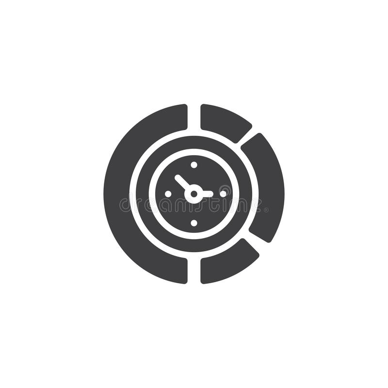 Icona di vettore dell'orologio del diagramma royalty illustrazione gratis