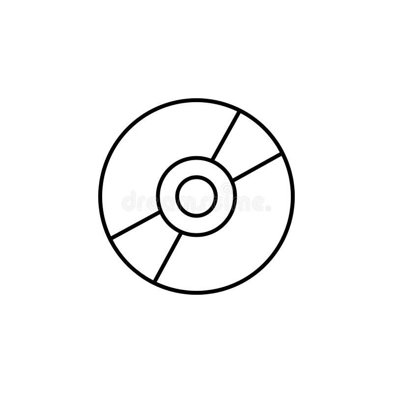 Icona di vettore dell'unità CD, icona di DVD, icona del CD illustrazione vettoriale