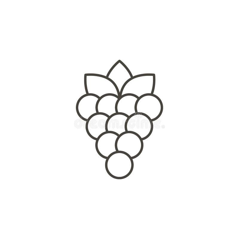 Icona di vettore dell'uva Illustrazione semplice dell'elemento dal concetto dell'alimento Icona di vettore dell'uva Illustrazione royalty illustrazione gratis