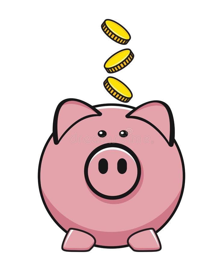 Icona di vettore della banca del maiale royalty illustrazione gratis