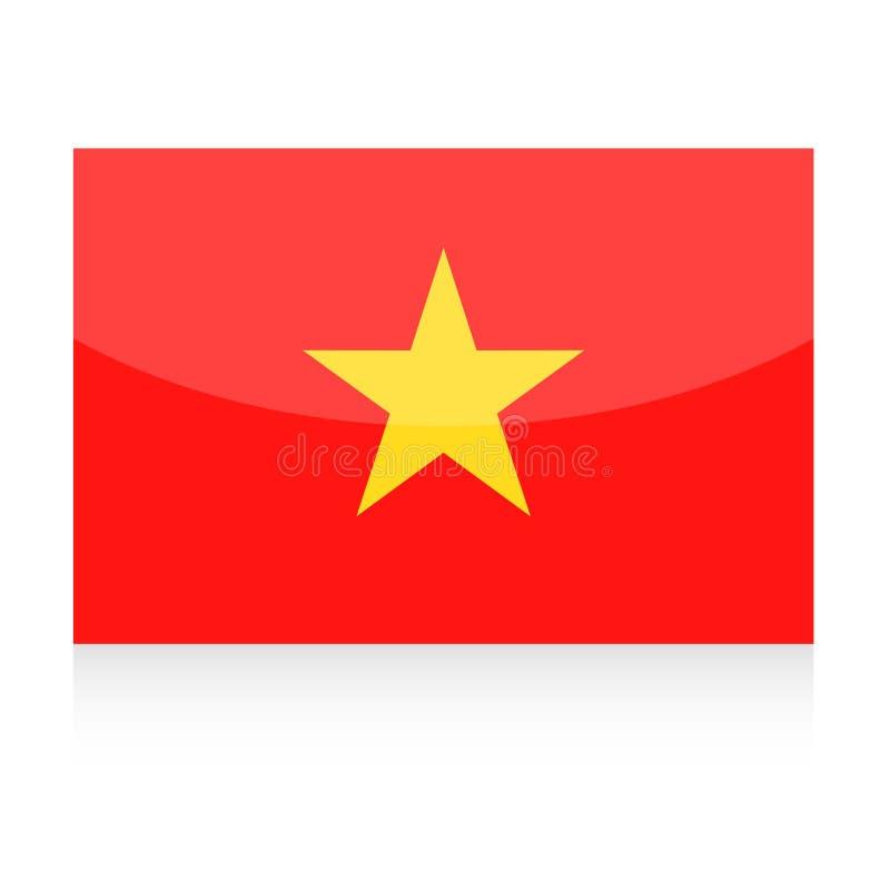Icona di vettore della bandiera del Vietnam illustrazione di stock