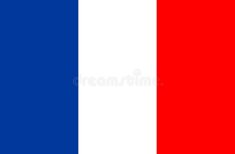 Icona di vettore della bandiera della Francia Bandierina della Francia gioco di calcio della coppa del Mondo illustrazione vettoriale