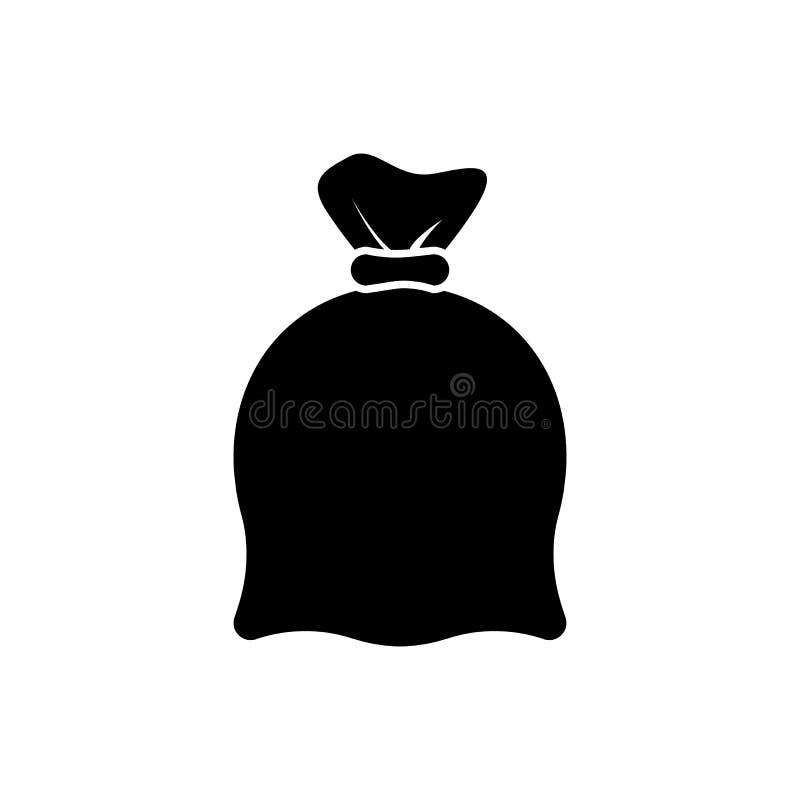 Icona di vettore della borsa dei soldi nello stile piano Moneybag con il simbolo di dollaro i royalty illustrazione gratis
