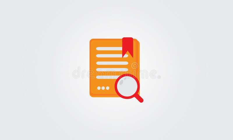 Icona di vettore della carta di compito di ricerca immagini stock libere da diritti