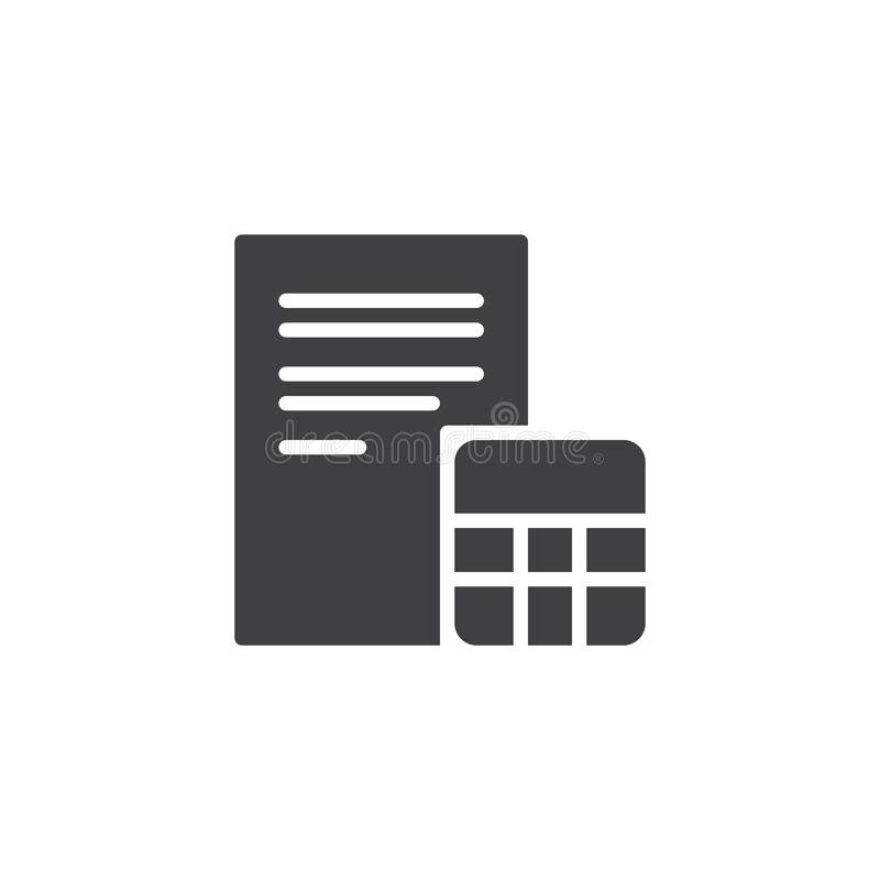Icona di vettore della carta e del calcolatore royalty illustrazione gratis