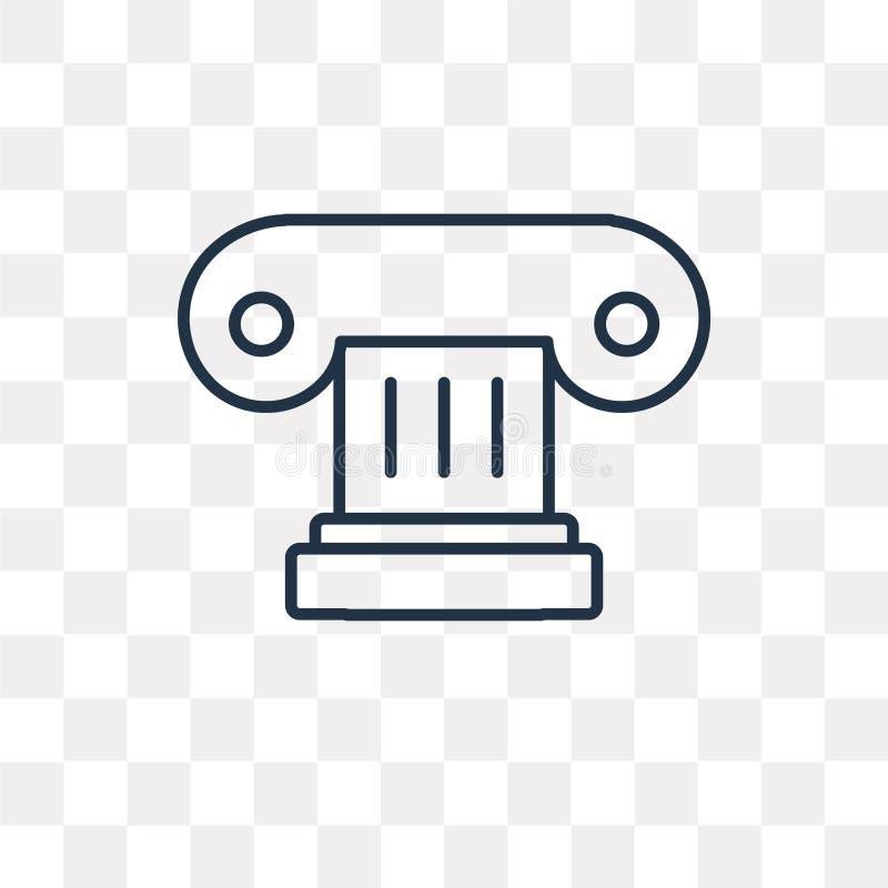 Icona di vettore della colonna isolata su fondo trasparente, pi lineare royalty illustrazione gratis