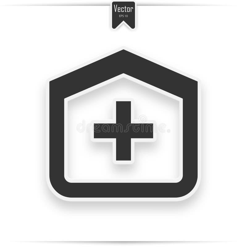 Icona di vettore della costruzione dell'ospedale royalty illustrazione gratis