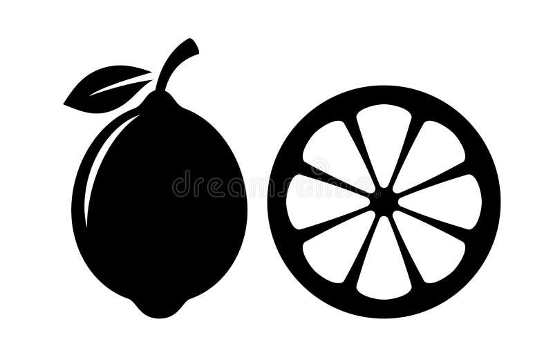 Icona di vettore della fetta del limone royalty illustrazione gratis