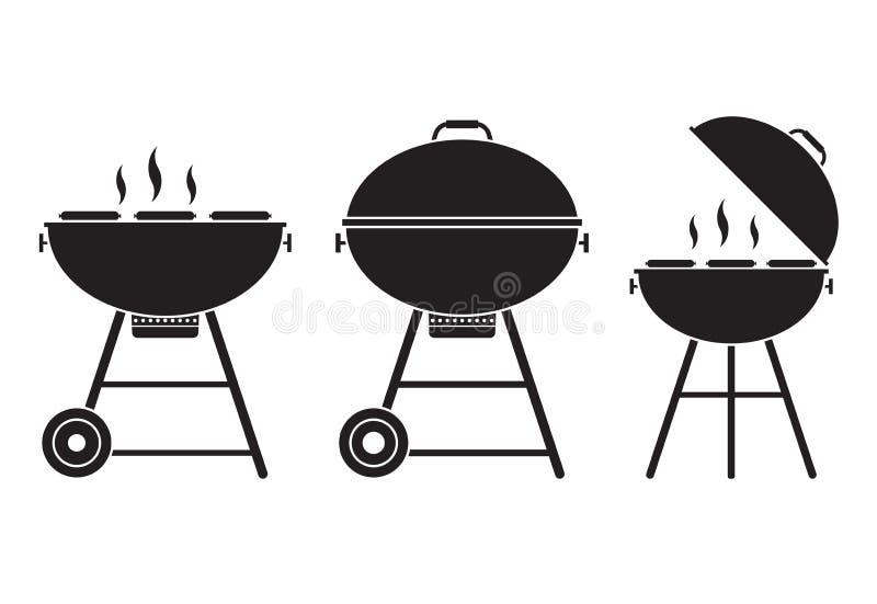 Icona di vettore della griglia del barbecue illustrazione vettoriale