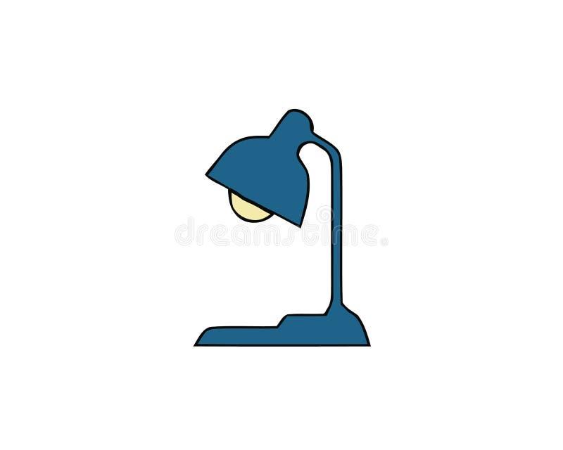 Icona di vettore della lampada da tavolo su fondo bianco Icona moderna della lampada da tavolo per il grafico ed il web design Ic royalty illustrazione gratis