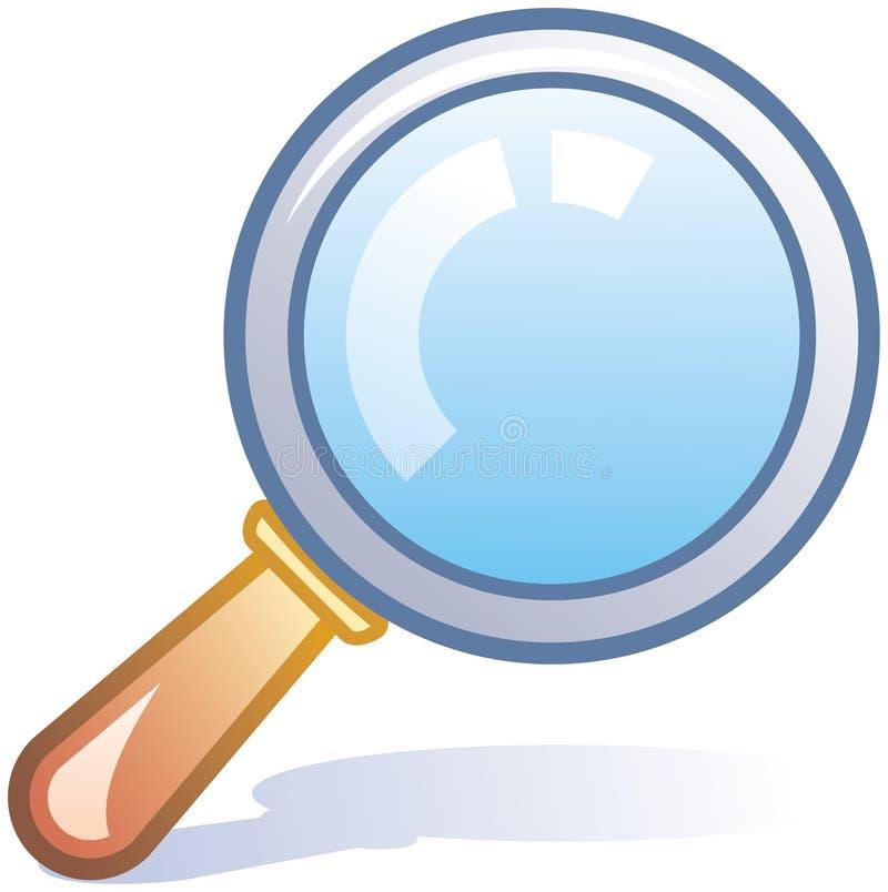 Icona di vettore della lente d'ingrandimento royalty illustrazione gratis