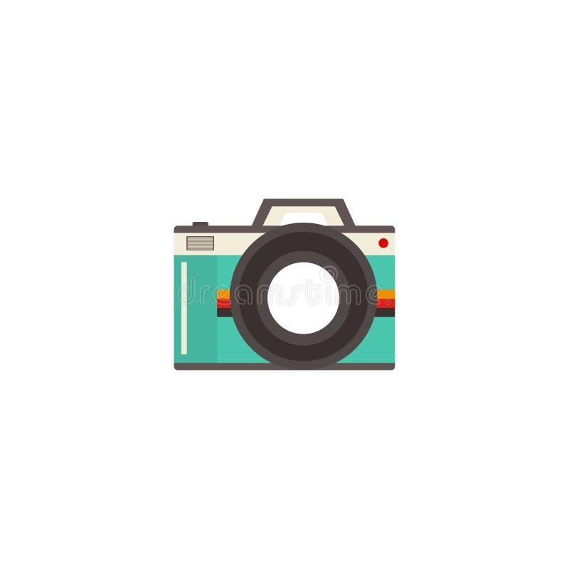 Icona di vettore della macchina fotografica, retro macchina fotografica Priorità bassa bianca Illustrazione di vettore ENV 10 illustrazione di stock