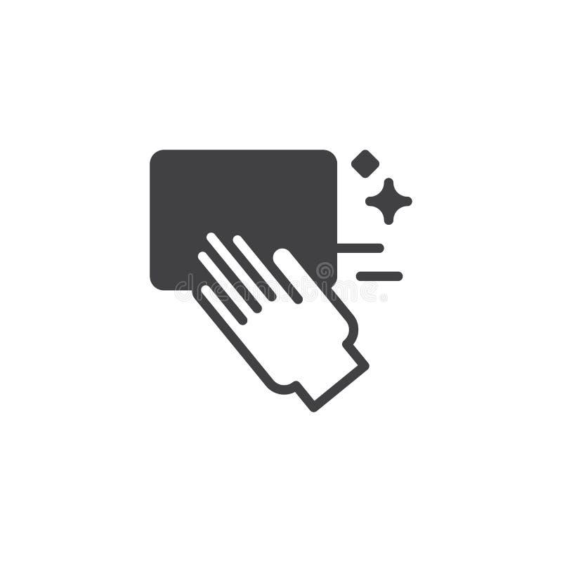 Icona di vettore della mano di pulizia illustrazione vettoriale