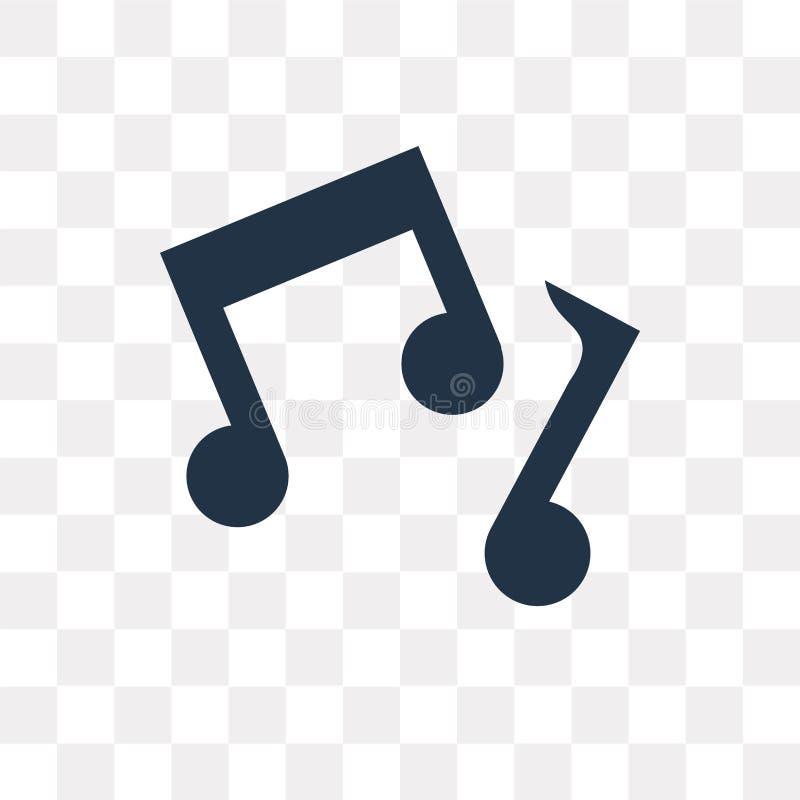 Icona di vettore della nota di musica isolata su fondo trasparente, musica illustrazione vettoriale