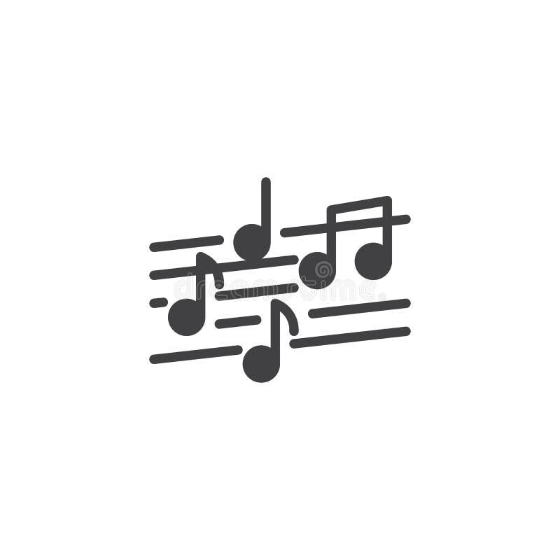 Icona di vettore della nota musicale illustrazione di stock