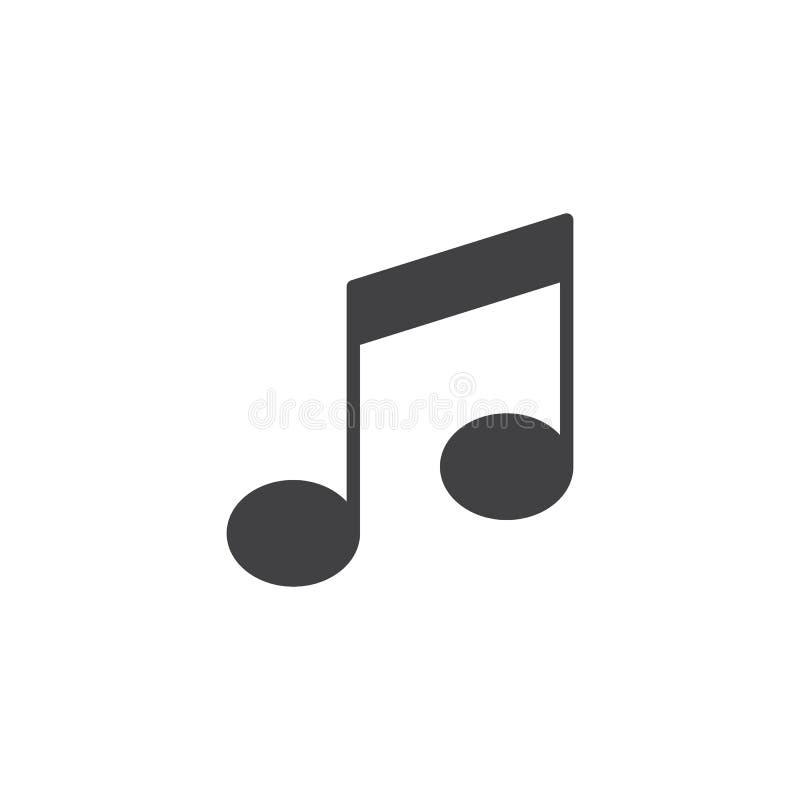 Icona di vettore della nota musicale royalty illustrazione gratis