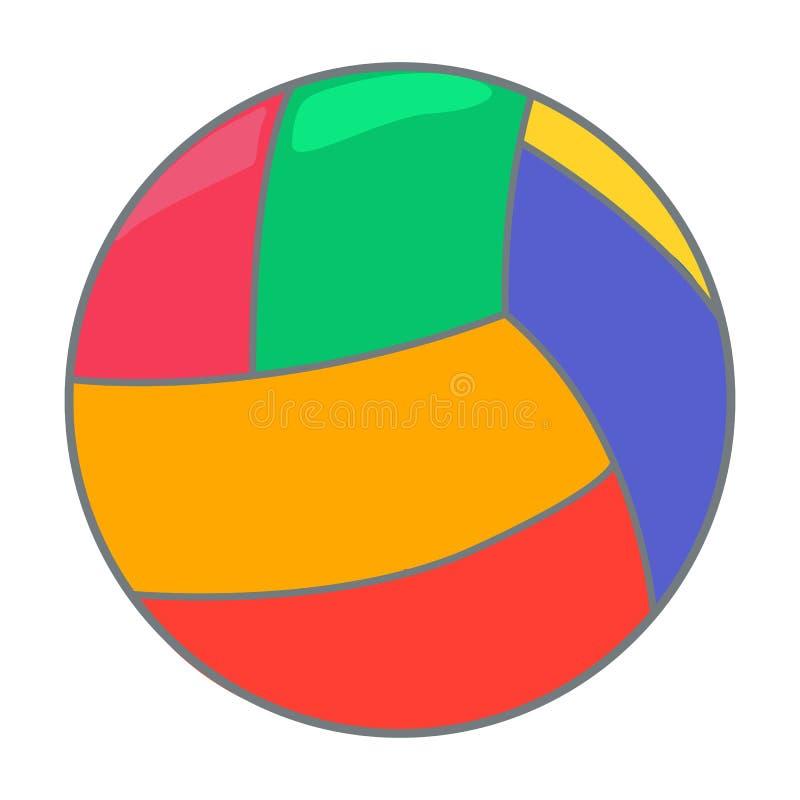Icona di vettore della palla del giocattolo su un fondo bianco Illustrazione della palla di colore isolata su bianco Progettazion illustrazione vettoriale