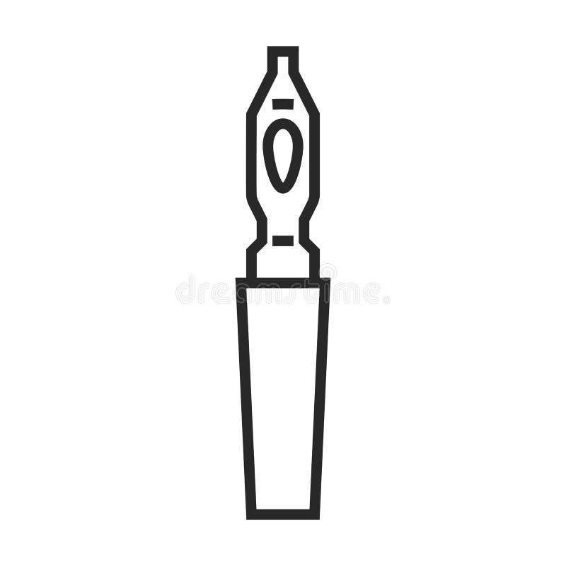 Icona di vettore della penna di calligrafia illustrazione vettoriale
