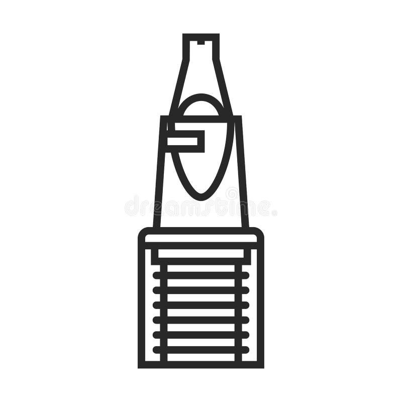 Icona di vettore della penna di calligrafia illustrazione di stock