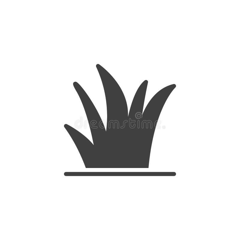 Icona di vettore della pianta dell'erba royalty illustrazione gratis