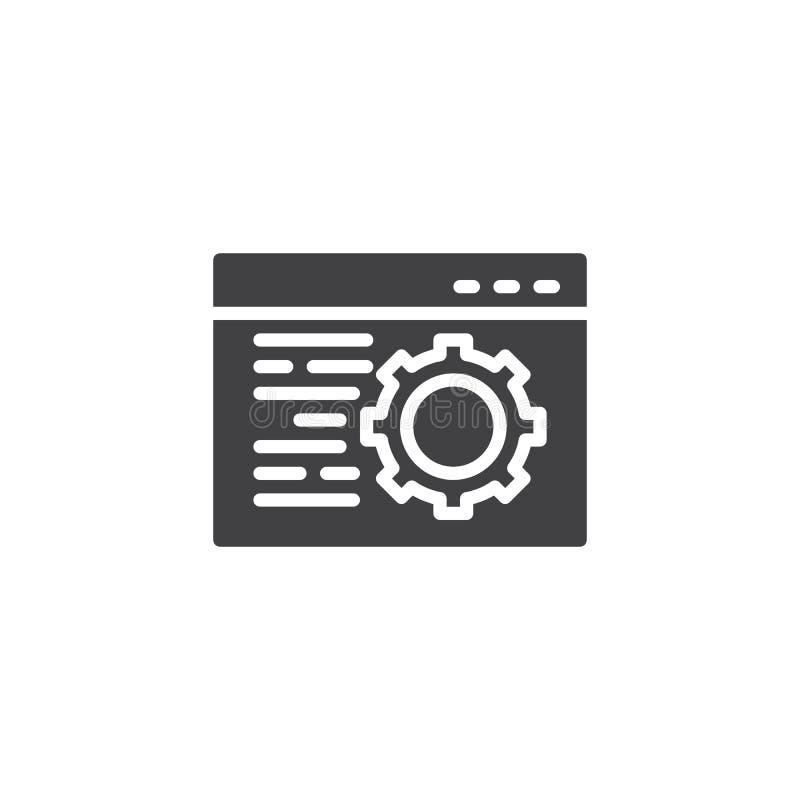 Icona di vettore della regolazione di browser illustrazione di stock
