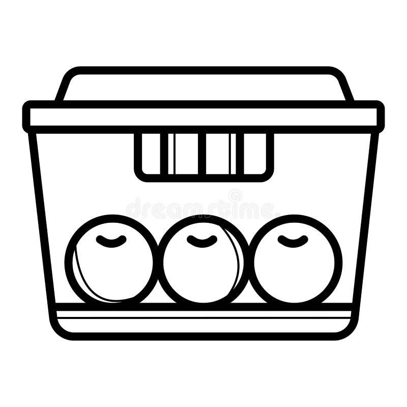 Icona di vettore della scatola di pranzo illustrazione di stock