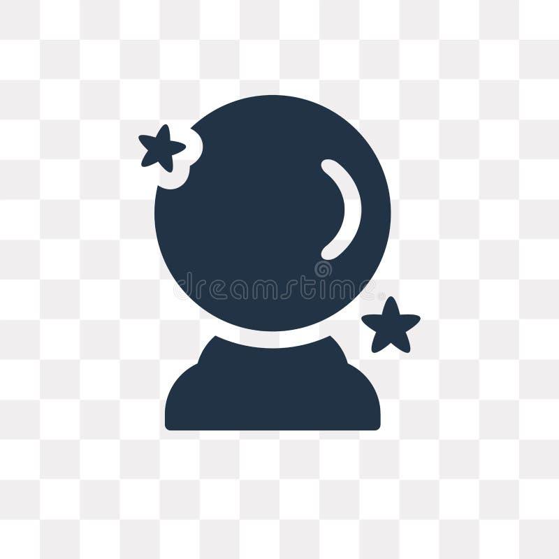 Icona di vettore della sfera di cristallo isolata su fondo trasparente, grido illustrazione vettoriale
